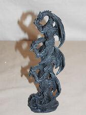 New Collectible Hear See Speak No Evil Dragon Dragons Piggy Back Statue Figure