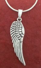 Angel Wing Necklace Silver Plated
