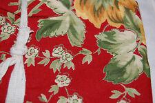 April Cornell Napkins Paprika Red Green Gold (4) 100% Cotton Nwt
