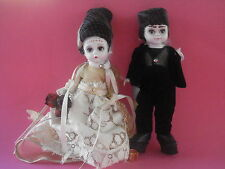MADAME ALEXANDER MR. & MRS. FRANKENSTEIN DOLLS BRIDE AND GROOM IN BOX NEW