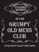 New 15x20cm Grumpy Old Men's Club funny small metal wall sign