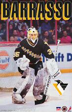 POSTER :NHL HOCKEY : TOM BARRASSO - PITTSBURG PENGUINS- FREE SHIPPING ! LW4 V