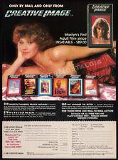 MARILYN CHAMBERS / Creative Image__Original 1983 Print AD / video promo advert