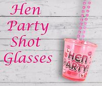 24 X PINK SHOT GLASSES HEN NIGHT PARTY WITH 84CM NECKLACE FOR HEN DO ACCESSORIES