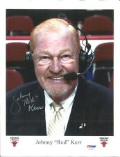 Johnny Red Kerr Signed Photo 8x11 Autographed Bulls PSA/DNA AC27977
