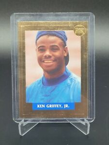 1992 Front Row Ken Griffey Jr 3/3 Drafted Pure Gold 23K Gold Dust Stamping Mint