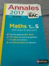 Annales maths bac S  terminale S 2017, nathan