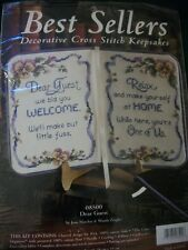 "JCA Best Sellers ""Dear Guest"" Cross Stitch Keepsake Kit Size 11"" x 7 1/2"""
