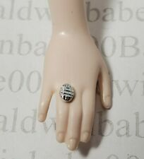 JEWELRY ~ (D) MATTEL BARBIE DOLL TWILIGHT BELLA PLASTIC SILVER ACCESSORY RING