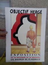 Carton pub pour vente affiches dessins sculpture sur Tintin Objectf Hergé 90's