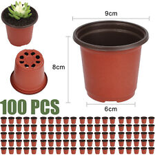 Set/ 100pcs Plastic Garden Nursery Pots Flowerpot Seedlings Containers Planter