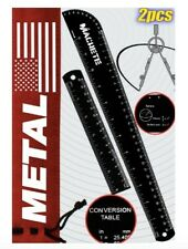 Metal Ruler Set - 15 cm/6 Inch and 30 Cm/12 Inch Rulers - Stainless Steel...
