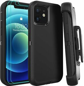 For Apple iPhone 12 11 XR Xs Max Pro Defender Case Shock Proof Dual Layer & Clip