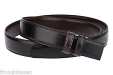 Reversible belt strap Black Mens belts Brown ferragamo buckle Genuine leather 34