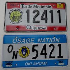 2 Nummernschilder aus USA- Indianerreservate. 13186.