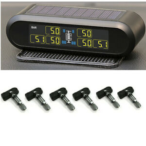 Universal TPMS Car Solar USB Wireless Tyre Pressure Monitor System For RV Truck