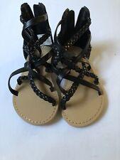 Koala Kids Toddler Girls Black Sandals Size 5