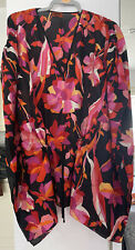 Missoni Kaftan Beach Cover Up Bright Colourful Black Pink Orange One Size