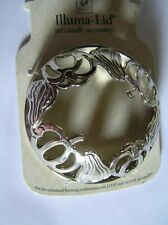 Yankee Candle Illuma Lid Topper Pumpkins Gourds Cut Out Silver Free Shipping