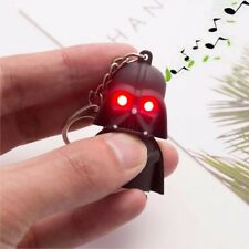 1pc Red Light Up LED Star Wars Darth Vader With Sound Keyring Key Chain Gift