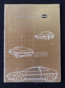 1981 Pininfarina Audi Quartz Press Kit Brochure Photos English Italian French