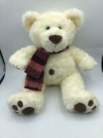 Baxter White Teddy Bear Scarf Myer Plush Kids Soft Stuffed Toy Animal Doll