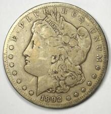 1892-CC Morgan Silver Dollar $1 - VF Details Condition - Rare Coin!