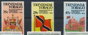 Trinidad and Tobago - 1977 - Sc 272 - 74 - Inaguration of the Republic VF MNH