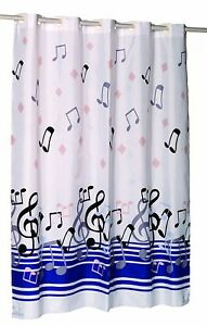 """Carnation Home Fashions """"Ez On"""" built in hooks shower curtain CAR-SCEZ-XW/BLN"""