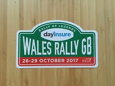 WALES RALLY GB OFFICIAL 2017 STICKER - RALLY OF LEGENDS - BRAND NEW MINT COND.