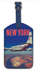 Leatherette Travel Luggage Tag Baggage Label - New York
