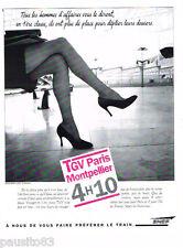 PUBLICITE ADVERTISING 085  1995  SNCF  le TGV PARIS-MONTPELLIER
