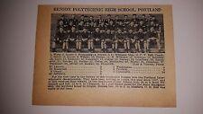 Benson Polytechnic Portland Wapinitia Oregon High School 1928 Football Team Pic