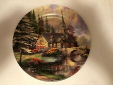 "Thomas Kinkade 2004 Dogwood Chapel 9"" plate - loose, not chipped"