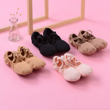 women ballet dance shoes Canvas Slippers Children Soft Sole Practise Yoga shoes