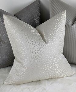 John Lewis & Partners Astar  Handmade Cushion Cover Luxurious Satin Ivory