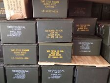 Twelve(12) 50 Cal Ammo Cans Empty US Government Surplus