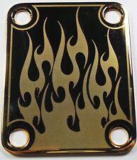 CUELLO PLACA - Llamas - oro para guitarra y bajo -made en USA