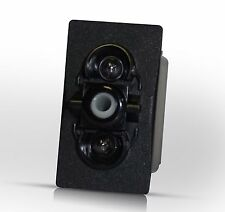 V1D1G66B - ON-OFF with IND & DEP lamp, Carling Contura Rocker Switch, marine
