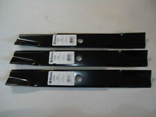"3 MOWER DECK BLADES John Deere 140 300 314 316 317 318 48"" M41967 USA Made"