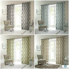 Woodland Forest Trees Fully Lined Eyelet Ready Made Curtains 4 Colours Available