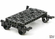 NICEYRIG Multi-Function Cheese Plate Tripod Base Plate + Double 15mm Rail Clamp
