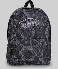 dccefe9c08b Vans Realm Classic Patch Kaleidoscope Black Print Backpack Bookbag New NWT