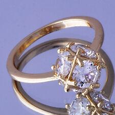 Classic fashion jewelry Womens Ring CZ Ball Yellow Gold Filled Size 6
