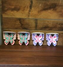 Unique Butterfly wood wall shelves set of 4