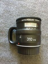 Bitten Camera Lens Coffee Mug With Removable Lid