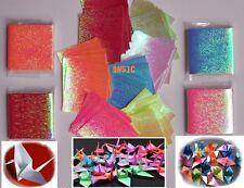 "DIY. 280 sheets Origami Paper Folding Kit Lucky Crane Bird Shiny Pearl 1.5""x1.5"""