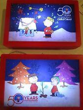 Peanuts 50 Years A Charlie Brown Christmas 4 X 6 Lot Of 2 Shimmer Illuminart Nwt