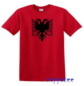 Children's Albania T Shirt - Kids Red Albanian Tee