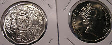 """1985 50c Australian""""Coat of Arms"""" Mint Set Coin:Released in Mint & Proof Sets"""